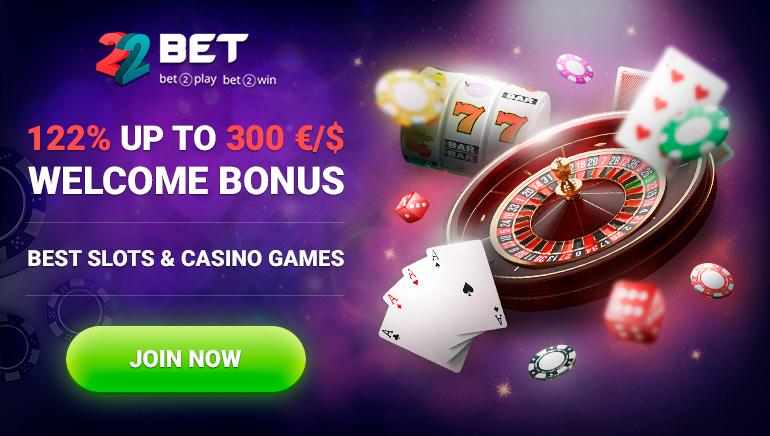 22BET Casino se pone las pilas