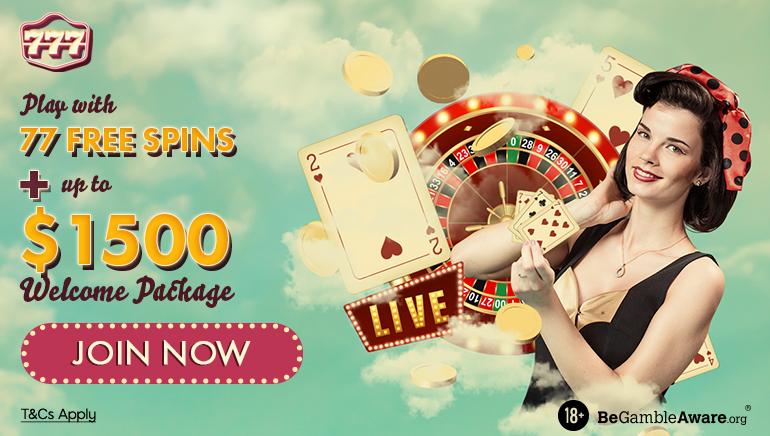 Juega con 77 giros gratis + paquete de bienvenida de hasta $ 1500