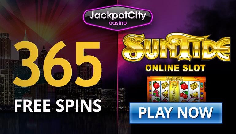 Reclama tus 15 tiradas gratuitas y sin depósito para SunTide en Jackpot City Casino