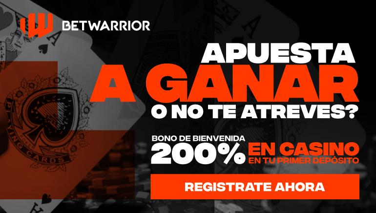 BetWarrior Casino te brinda una oportunidad única de recibir el 200% de tu primer depósito para jugar