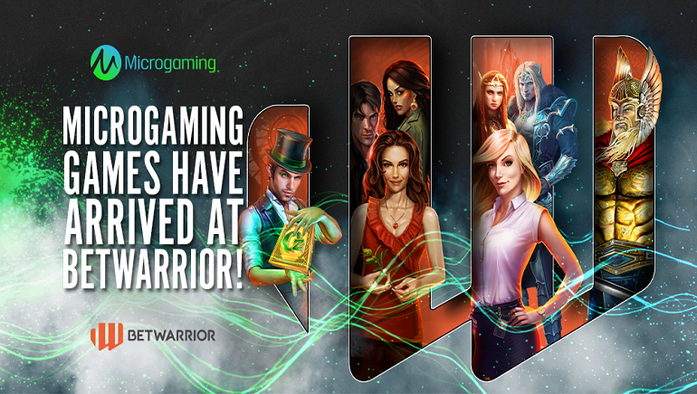 BetWarrior añade juegos de Microgaming a su biblioteca