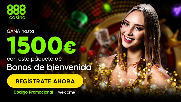 ¡Obtenga un gran bono de bienvenida en 888 Casino por valor de $ 1500!