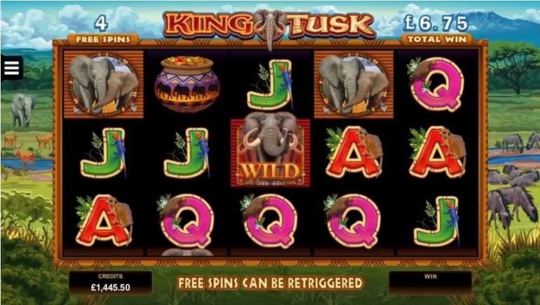 Nueva tragamonedas temática sobre elegantes: King Tusk de Microgaming