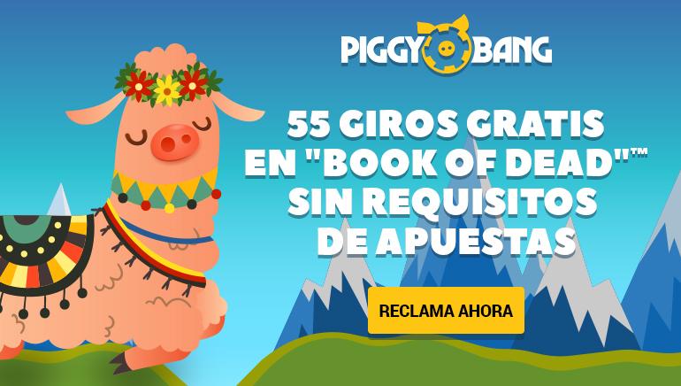 Los miembros nuevos de Piggy Bang Casino podrán recibir hasta 55 giros libres con su primer depósito
