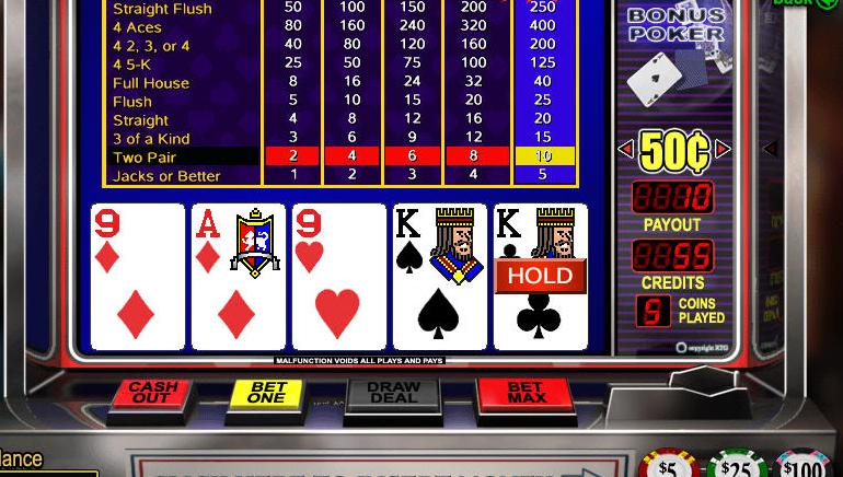 Vídeo póker online gratis