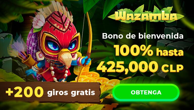 Casino Wazamba - regístrese y obtenga un bono de hasta 425000 pesos chilenos