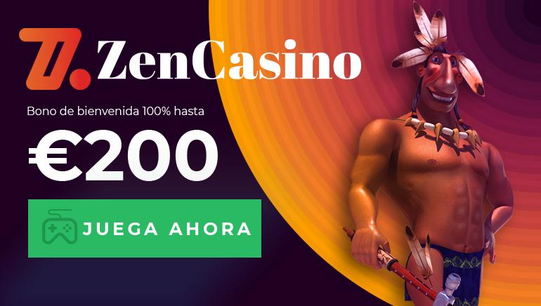 Comienza tu aventura en Zen Casino con el bono de bienvenida del 100 % de hasta 200 €